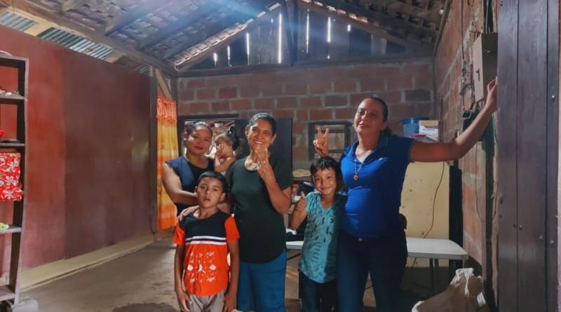 Larreynaga: En la comunidad Miraflores inauguración deenergía eléctrica