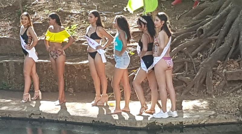 Soberanas de los municipios de Carazo hacen lanzamiento departamental de Reinas de Verano 2021 en Cataratas de Lupita