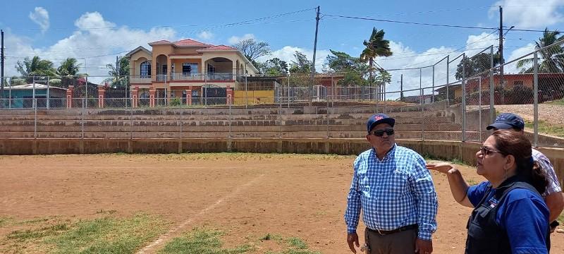 Terreno donde se construye la primera etapa del estadio infantil