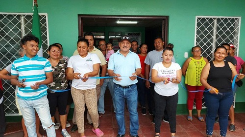 Inauguración del puesto de salud en la comunidad Malpaisillo en Larreynaga