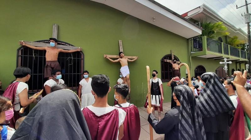 Vía Sacra en:Somoto, Pueblo Nuevo, Estelí, Juigalpa, Villa Sandino,  San Juan de Nicaragua