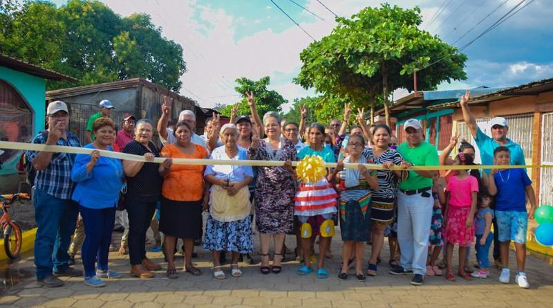 Inauguración de calle en Chinandega