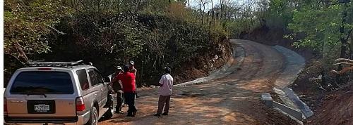 La mejora de caminos cubrió a San Juan de Limay en la comunidad Agua Fría con dos kilómetros.