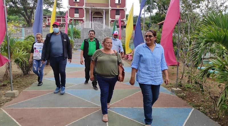 Obras sociales con mucha energía y solidaridad en San Lorenzo y Boaco aprecia presidenta del Inifom