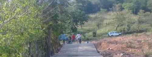 El gobierno local de Cinco Pinos hizo dos calles de concreto ciclópeo en el Sector #1 La Colonia.