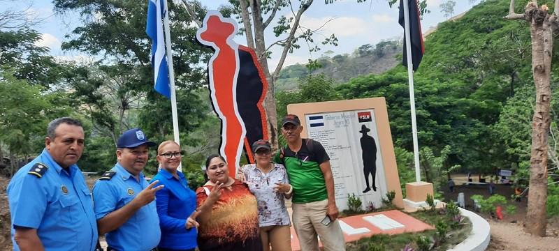 Inauguran silueta del General Augusto C. Sandino, Héroe Nacional que legó orgullo y dignidad a los nicaragüenses