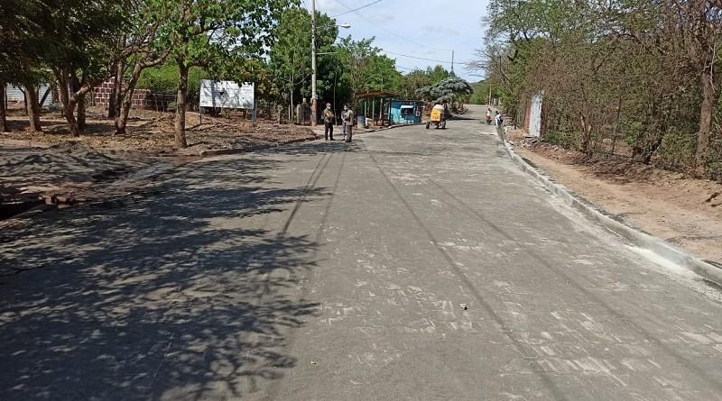 Calle en el barrio 19 de Julio, Matagalpa
