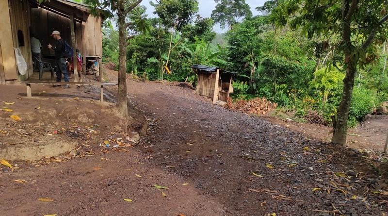 Siete kilómetros restauró la alcaldía de San José de Bocay en la comunidad Kantayawas.