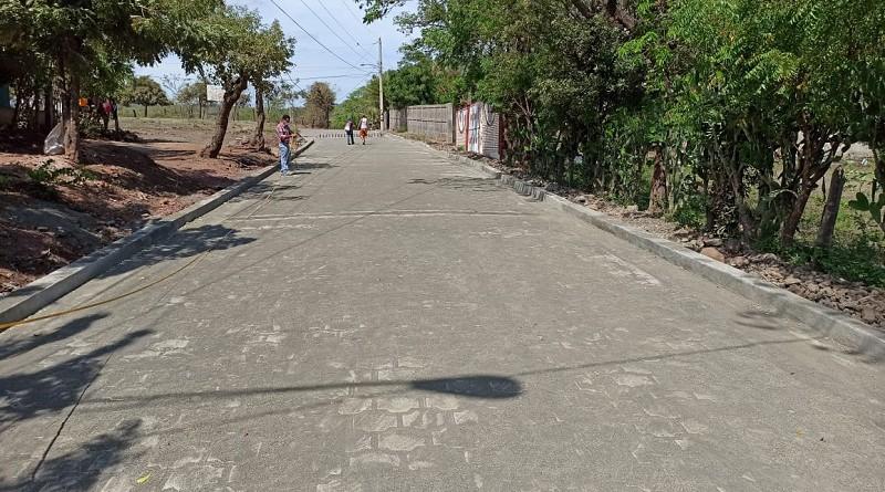 En Matagalpa el gobierno local adoquinó dos calles en el barrio 19 de Julio.