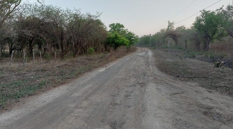 En Larreynaga ocho kilómetros en la comunidad Carreta Quemada