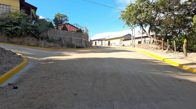 Calle de Somoto recién inaugurada