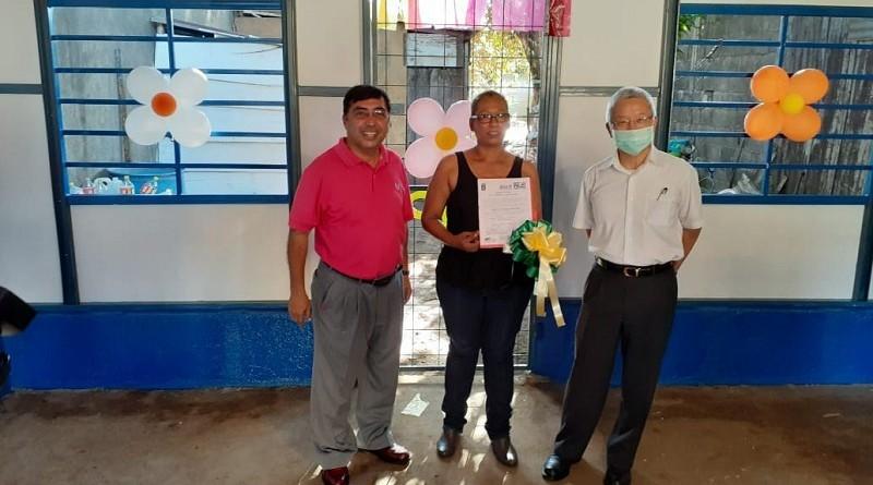 La alcaldía de Managua y la Embajada de Taiwán, entregaron vivienda a Raquel de los Ángeles Romero, en el Barrio San Judas