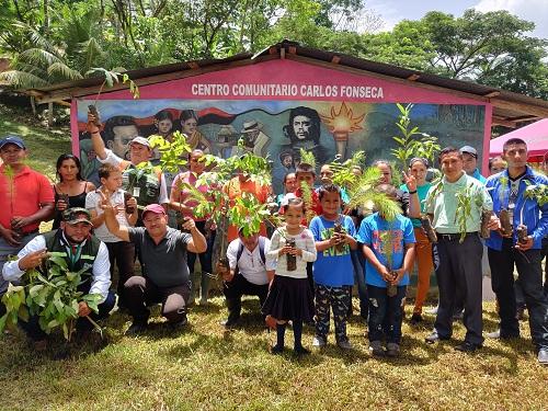 En Waslala , homenaje al comandante Carlos Fonseca A