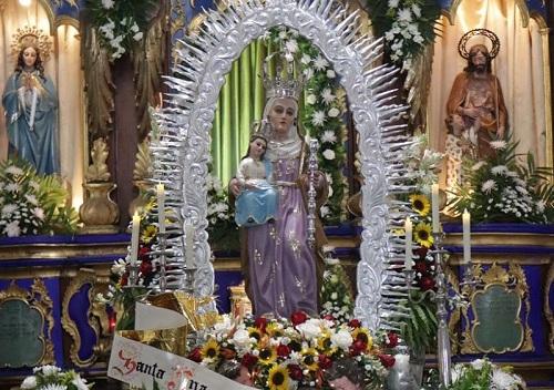 Imagen de la patrona Santa Ana en Chinandega la cual salió en procesión el lunes recién pasado