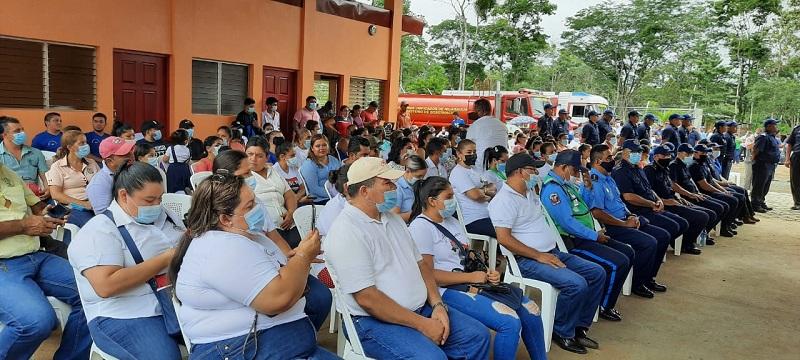 Con la estación de bomberos que se inauguró hoy 27 de julio, en El Coral, Nicaragua cuenta con 115 unidades en todo el territorio.