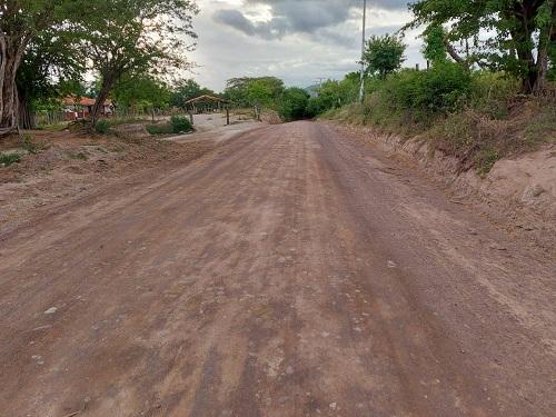 Larreynaga: Mantenimiento de cuatro kilómetros de caminos en el tramo Larreynaga- Portobanco.