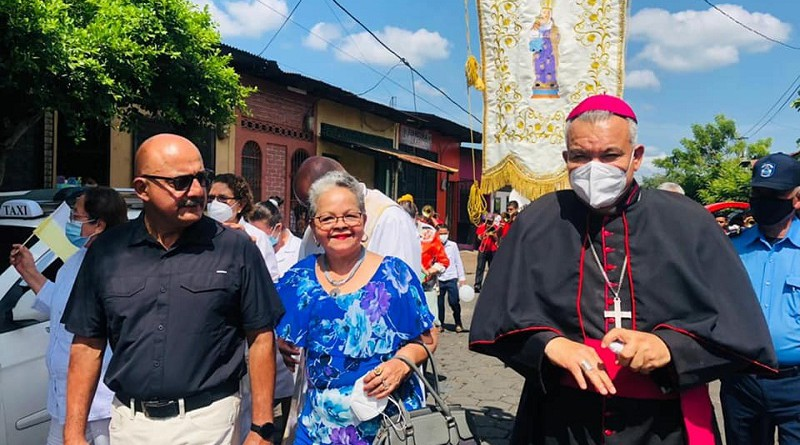Obispo de Diócesis de León celebra solemne misa en día principal de fiestas patronales de Santa Ana en Chinandega