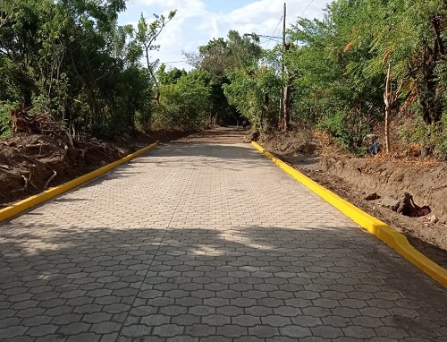 Ticuantepe: Calle mejorada en la comunidad Las Perlas.