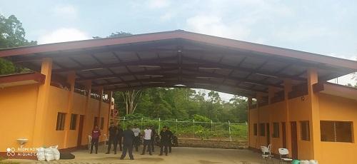 Construcción de la estación de bomberos en El Coral.