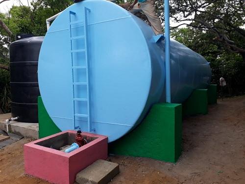 El Crucero: Sistema de agua mejorado en la comunidad Sandino.