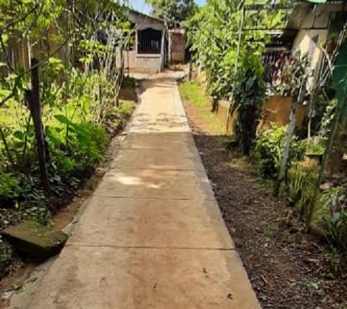 Construcción de cien metros lineales de andenes enNueva Guinea.