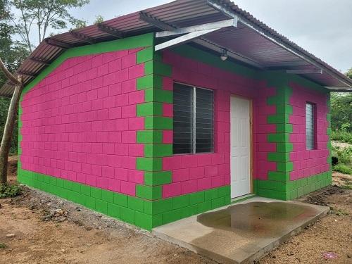 Dos familias deMozonte recibirán dos casas en la comunidad Los Arados.