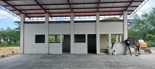 Construcción de estación de bomberos enVillanueva.