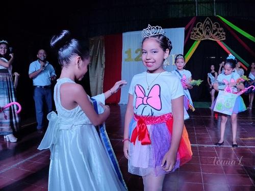 La Reina Infantil 127 aniversario es Melisa Martinez Tercero es originaria de la comunidad Los Laureles y tiene ocho años.