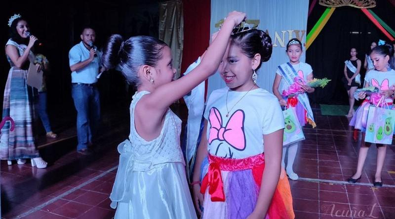 Coronación de Reina infantil 127 aniversario en Chichigalpa