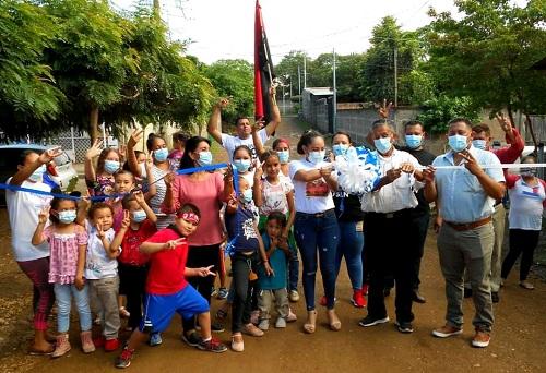 Familias inauguran calle en el barrio Buenos Aires en Ciudad Darío