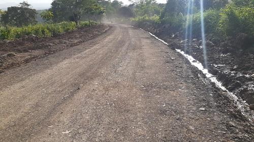 Tramo de camino mejorado Mollejones- Orop+endola en Santo Tomás, Chontales