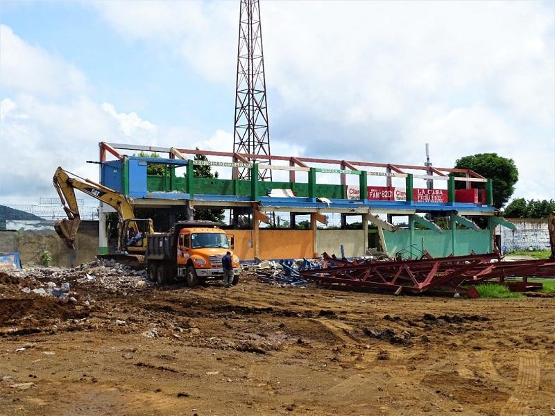 En labores de demolición