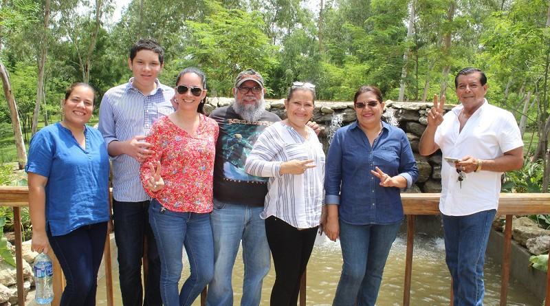 Visita de la presidenta del Inifom, al municipio costero de San Rafael del Sur
