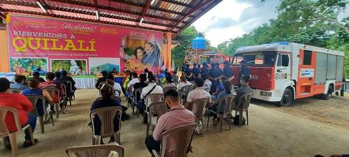 Los habitantes de Quilalí inauguraron la estación de bomberos número 119 durante un acto especial. Es otra unidad más que construye el buen gobierno para la seguridad y tranquilidad de los pobladores.