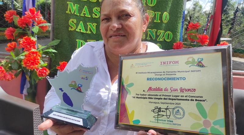 San Lorenzo resalta  entre los municipios de Boaco: Es el más limpio